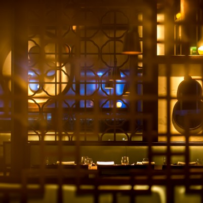 Hakkasan's interiors with latticework